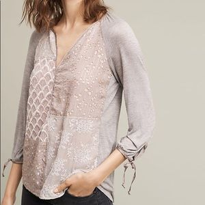Anthropology Tiny Juliette Patchwork Top